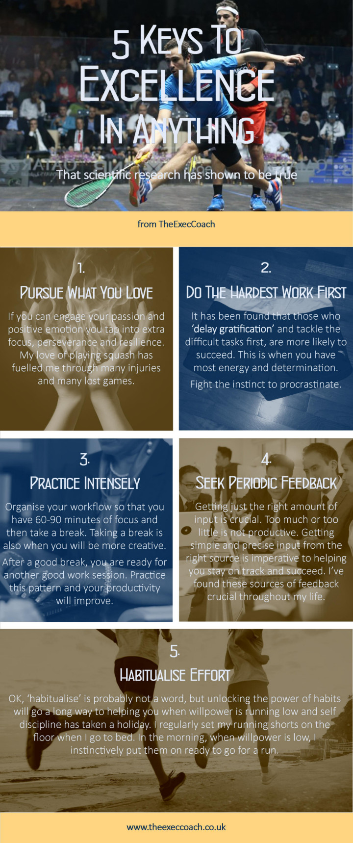 infographic 5 keys to excellence in anything